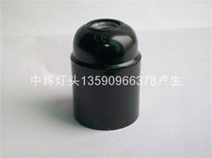E27-黑電木光身自鎖燈頭
