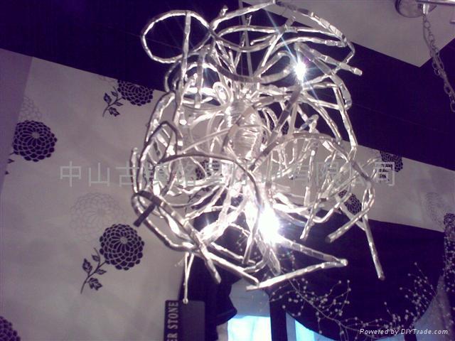Aluminum ball chandelier creative restaurant 2