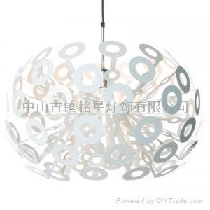 Aluminum ball chandelier creative restaurant 3