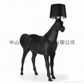 Big horse resin floor lamp good sales