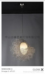hot sales art aluminium lighting pendant lamp
