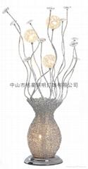 客廳書房鋁線鋁絲花瓶落地燈