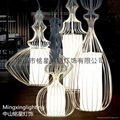 歐式水母鳥籠鐵藝情調咖啡館家裝燈具  1