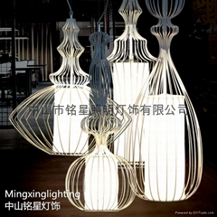 Continental Iron Birdcage jellyfish mood lighting decoration Cafe