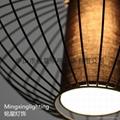 歐式水母鳥籠鐵藝情調咖啡館家裝燈具  3