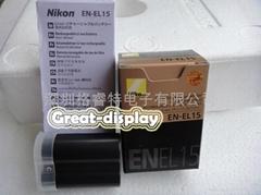 New EN-EL15 ENEL15 camera Battery pack for Nikon D7000 D800 E MB-D12 MB-D11 V1