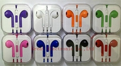3.5mm plug colorful in-ear earphone earbud+Microphone For iphone ipad cellphone