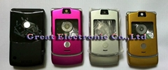 Full New faceplates housing cover case + keypad for motorola v3 cell phone