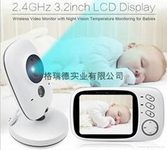 高清攝像頭夜視監控智能家電嬰儿監視器