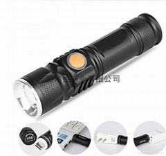 Aluminum Waterproof Zoomable Outdoor Handheld LED Flashlight Torch light