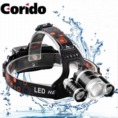 Adjustable Rechargeable Headlamp camping lartern diving light