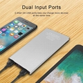 solar power bank portable mobile backup charger cellphone external battery