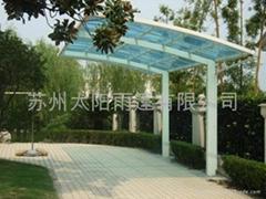 蘇州雨篷 陽光板工程