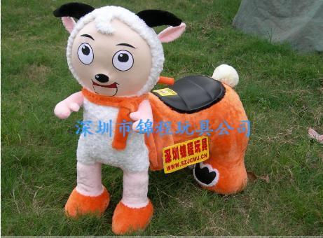 大憨熊小动物毛绒玩具车 4