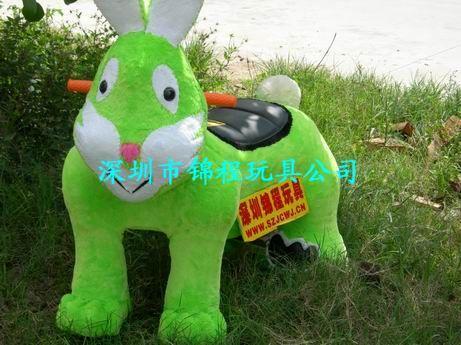 毛绒卡通动物电瓶车 3