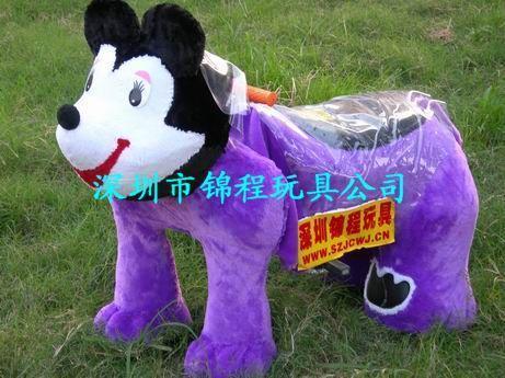 毛絨玩具動物電瓶車 1