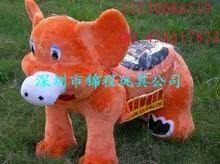 毛绒动物电动车