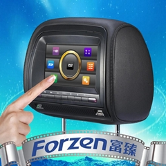 7 inch headrest dvd with touch screen and digital panel
