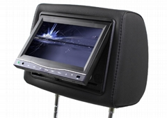 7 inch headrest car dvd player with touch screen and touch button