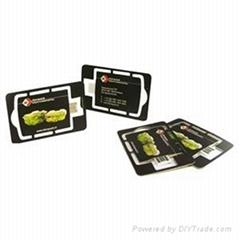 Diecut USB webkey single card, paper USB web key CR80 business card, direct mail