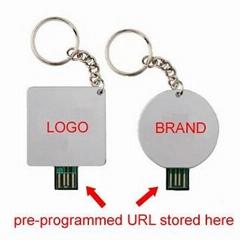 USB web key flyer, URL a