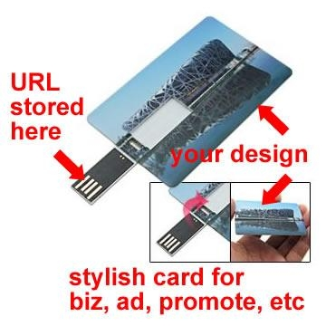 Credit card USB web key, wallet usb webkey, for business marketing, advertising 1