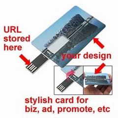 Credit card USB web key, wallet usb webkey, for business marketing, advertising