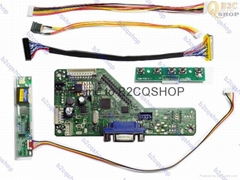 RT2270C.6(VGA) LCD Controller Board DIY Kit Inverter Keypad LVDs LCD LED driver