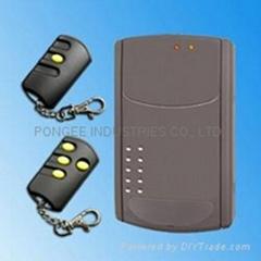Wireless door remote controller with hopping code algorism