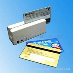 Portable magnetic stripe data collector