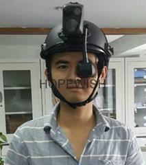 Helmet thermal imaging camera