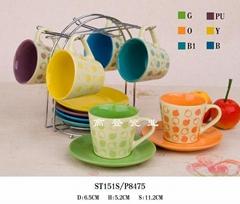 陶瓷杯和碟