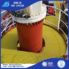 anti slip hight strength ship deck frp gratings ISO9001 ABS SGS certificate