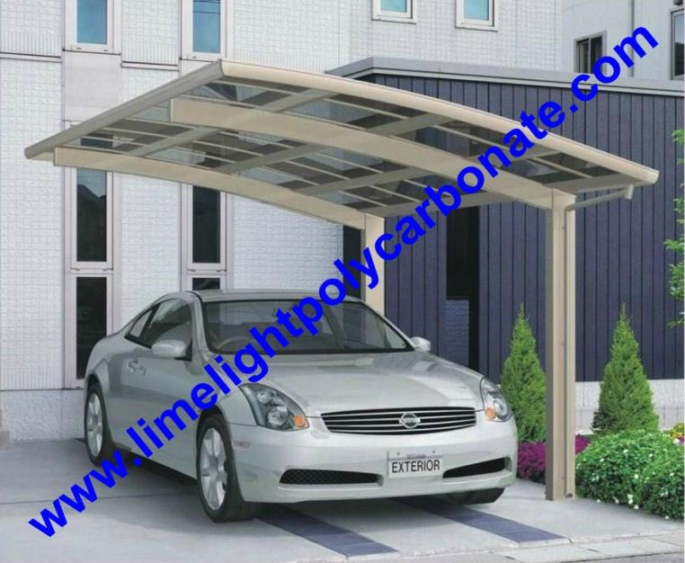 Diy Car Shelter : Polycarbonate carport aluminium mini