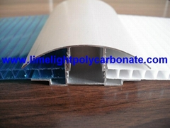 pc sheet profile polycarbonate sheet profile aluminium connector profiles