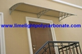 polycarbonate awning window awning door