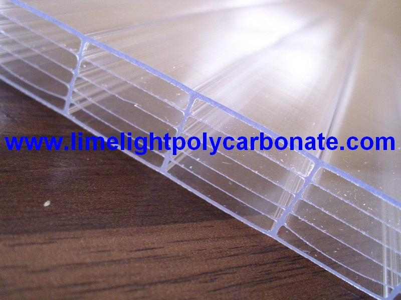 six-walls polycarbonate sheet polycarbonate multiwall polycarbonate sheet pc 1