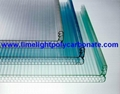 U clip joint panel polycarbonate sheet U-Lock polycarbonate sheet multiwall
