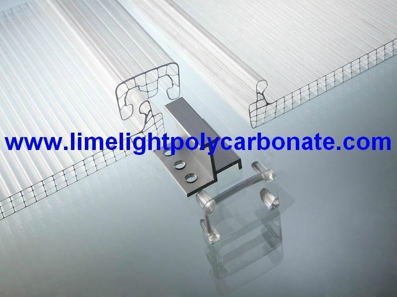 U Lock Polycarbonate Sheet U Clip Polycarbonate Sheet Clip
