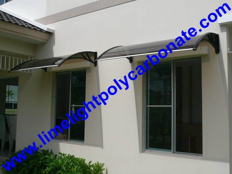 Pc Awning Canopy DIY Door Window Polycarbonate