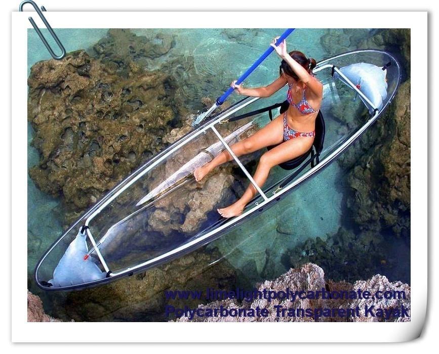 Polycarbonate kayak transparent kayak clear kayak crystal kayak clear canoe transparent canoe crystal canoe polycarbonate canoe