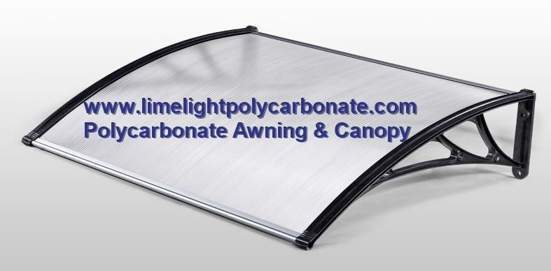 Polycarbonate awning with PC hollow sheet
