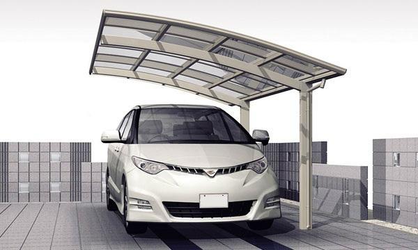single aluminium carport