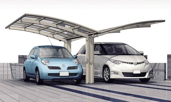 Y shape aluminium carport