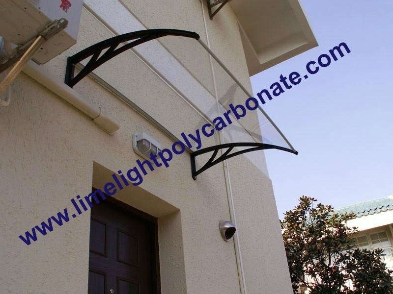 Polycarbonate awning DIY awning door canopy window awning rain awning rain shed rain shelter PC awning canopy polycarbonate