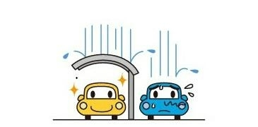 Aluminium carport protect your car from wind and rain