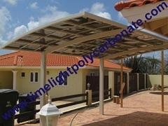 villa carport garage aluminium carport polycarbonate carport PC carport roofing