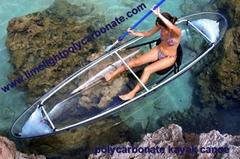 polycarbonate kayak canoe polycarbonate transparent kayak canoe PC clear kayak