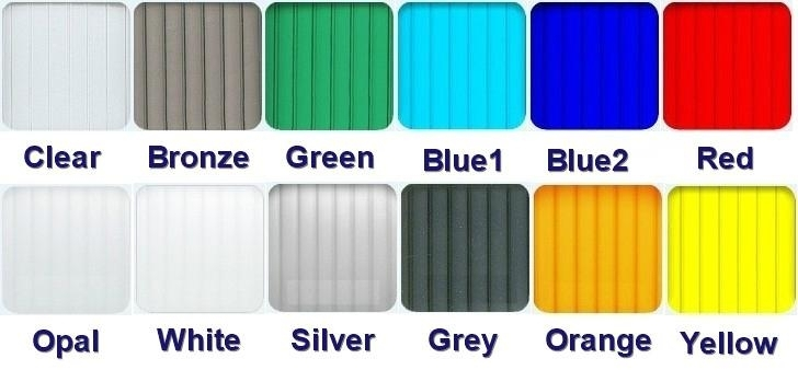 Polycarbonate awning color lable