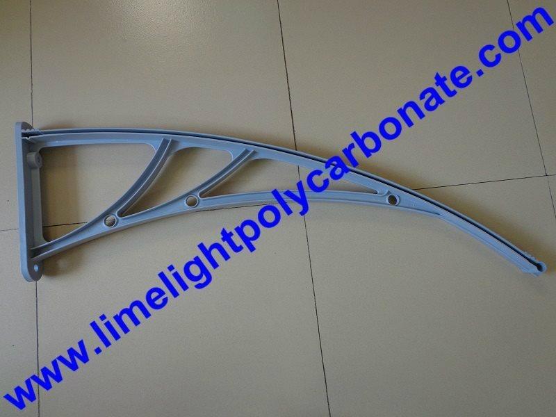 Gray awning bracket